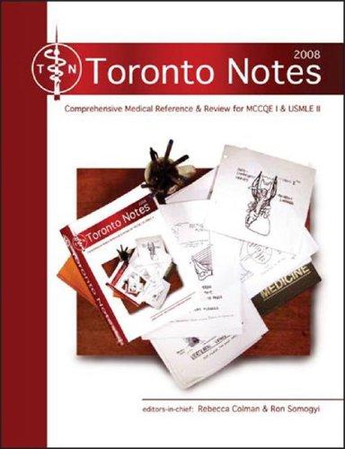 Toronto Notes 2008 Pdf