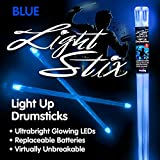 Blue LED Light Up Drumsticks Special Effect Percussion Drum Line Zildjian
