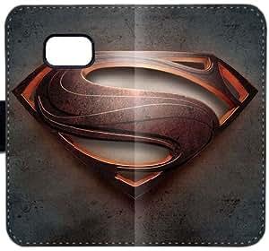 Logotipo del oro Superman T5S9X Funda Samsung Galaxy Note 5 caja de cuero funda Y2y500 el caso del tirón del teléfono celular duro funda único
