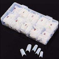Box 500Pcs Clear White Natural French False Acrylic Nail Art Tips UV Gel DIY