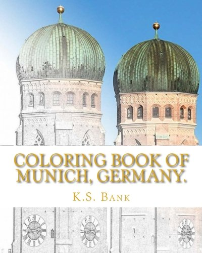 Coloring Book of Munich, Germany.