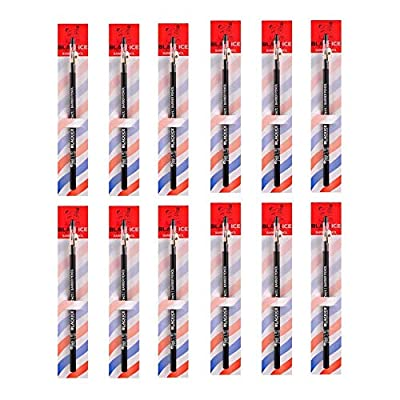 Black Ice Spray Barber Pencil (Black) - 12 pieces: Beauty