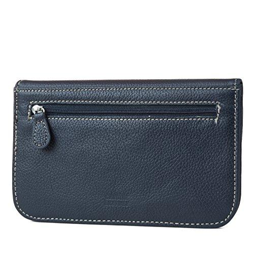 Mundi Womens Slim Flap Envelope Clutch RFID Blocking Wallet With Safe Keeper Technology (Navy) by Mundi (Image #2)