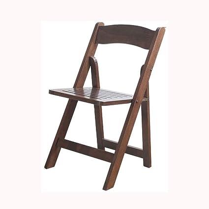NA WYQHS Color de Madera de sillas de Madera Plegables Somier ...