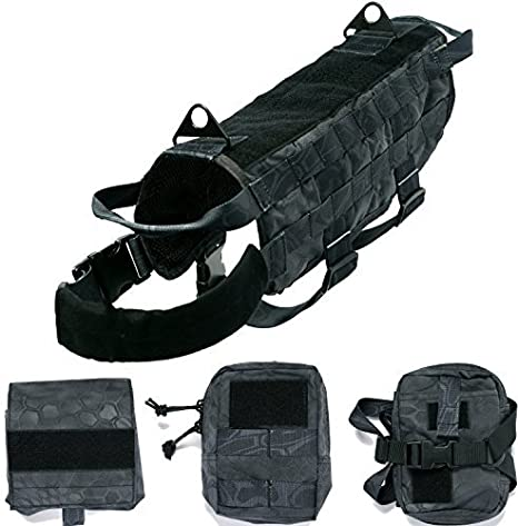 Arnés de entrenamiento de perros, militar, táctico, chaleco de nailon ...