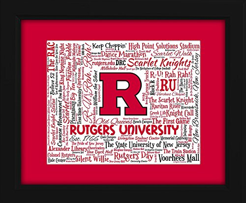 Upstream Framed - Rutgers University 16x20 Art Piece - Beautifully matted and framed behind glass