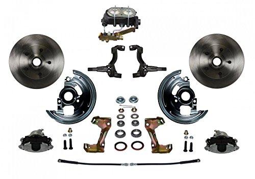 GPS Automotive FC1002-3A1 - Manual Conversion Kit with Cast Iron M/C Disc/Drum Side Mount