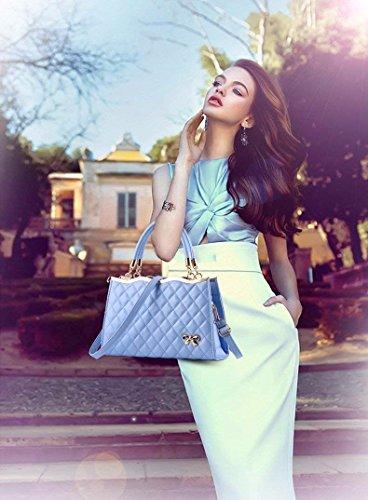 Bolsa Gxinyanlong Roja PU Rosa de de Superficie Señoras Bolso Hombro Sapphire la Bolso de Cuero Suave del Crossbody zgqrz1fw