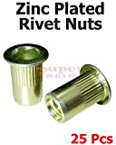 25 Pcs Steel Rivet Nuts Rivnut Insert Nutsert Zinc Rivet Nuts 10-24 UNC Super-Deals-Shop