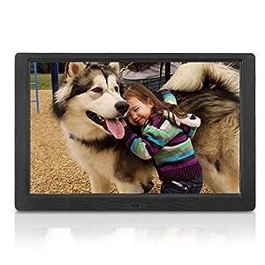 Digital Photo Frame 10.1 Inch (16:10) 1280×800 High Resolution Full IPS Display Photo/Music/Video Player Calendar Alarm…