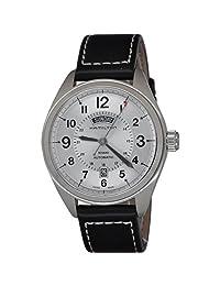 Hamilton H70505753 Khaki Field Day Automatic Silver Dial Black Leather Strap Men's Watch