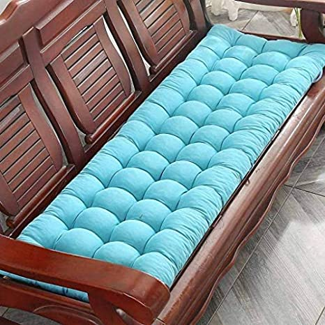 150cm-Black Lesong Bench Mat Seat Cushion,Thick Bench Pad Rectangle Soft Chaise Swing Chair Cushion for Garden Outdoor Wooden Metal Bench 2 3 Seater-48
