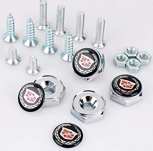 Deselen License Plate Screws for Cadillac Frame,Set of Front and Back - EBS-BT14