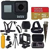 $409 Get GoPro HERO7 Black Digital Action Camera with 4K HD Video 12MP Photos, SanDisk 32GB Micro SD Card, Hard Case - Gopro Hero 7 Accessory Bundle