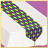 Kitchen & Housewares : Printed Mardi Gras Table Runner Party Accessory (1 count) (1/Pkg)