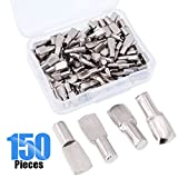 Glarks 150-Pieces 5mm Shelf Support Pegs Pins Spoon Shape Cabinet Furniture Shelve Support - Nickel Plated