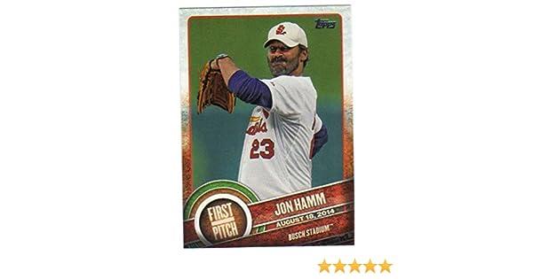 2015 Topps First Pitch #FP-18 Jon Hamm Cardinals Baseball Card NM-MT