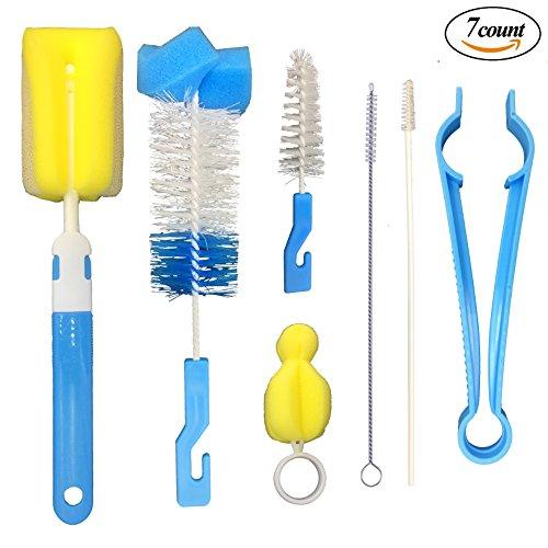 Baby Bottle Brush, 7 in 1 Multifunctional Cleaning Brush Kit