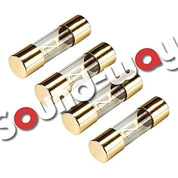 4 fusibles AGU para Sono Auto coche amplificador alimentación amplificadores (50 Amp