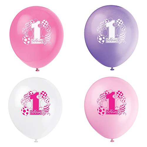 1st Birthday Latex Balloons - 1