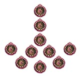 Ramya's Handpainted Earthen Terracotta Decorative Diwali Diyas - Set of 10 (7114)
