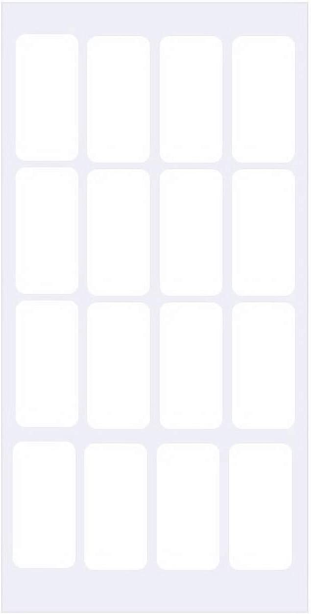 Removable White Coding Labels Stickers, Rectangular for Food Containers Blank Write on Mini Labels Self-Laminating Nametags for Jars Bottles,Price Stickers