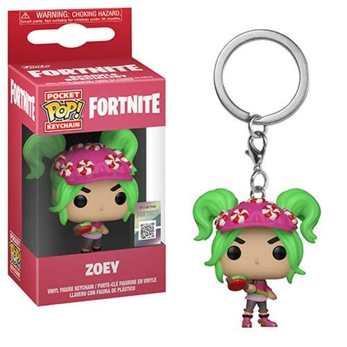 Fortnite Chaveiro Mini Boneco Pop Funko Zoey