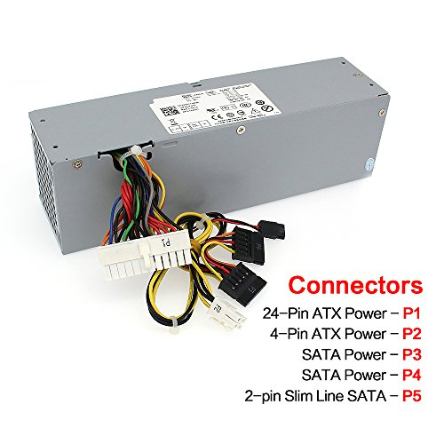 YEECHUN 240W New Power Supply for Dell OptiPlex 390 790 960 990 3010 7010 9010 Small Form Factor SFF H240ES-00 D240ES-00 AC240AS-00 AC240ES-00 DPS-240WB L240AS-00 H240AS-00 3WN11-180 Days Warranty! by YEECHUN (Image #1)
