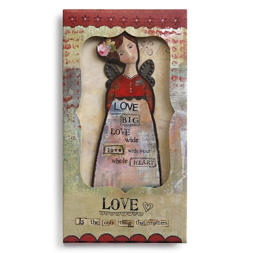 Kelly Rae Roberts Angel Ornament Card - LOVE