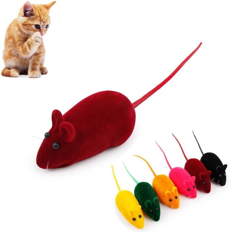 WESEEDOO Juguetes interactivos para Gatos, Ratones de Felpa de sisal para Entretenimiento de Mascotas, Juguetes de Juego para Interiores para Gatos: Amazon.es: Hogar