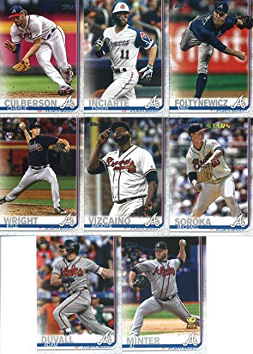 - 2019 Topps Complete (Series 1 & 2) Baseball Atlanta Braves Team Set of 23 Cards: Ronald Acuna Jr.(#1), Kolby Allard(#38), Touki Toussaint(#61), SunTrust Park(#71), Julio Teheran(#118), Freddie Freeman(#183), Dansby Swanson(#191), Tyler Flowers(#244), Kevin Gausman(#317), Nick Markakis(#350), Charlie Culberson(#369), Ender Inciarte(#385), Mike Foltynewicz(#387), Sean Newcomb(#408), Michael Soroka(#414), A.J. Minter(#467), Kyle Wright(#473), plus more
