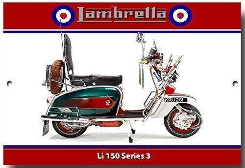 VINTAGE SIGN DESIGNS Lambretta Li 150 'Jimmys bike, Quadrophenia' quality metal sign Quadrophenia' quality metal sign