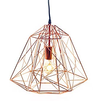 trendy plafonnier ampoule basile cuivre lignes droites suspension lustre lampe design vintage. Black Bedroom Furniture Sets. Home Design Ideas