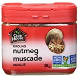 Club House, Quality Natural Herbs & Spices, Ground Nutmeg, Plastic Can, 39g