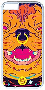 Psychedelic Dog Artistic Case for iphone 5s PC Material White