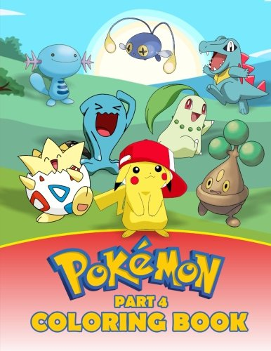 Pokemon Coloring Book Part 4: A great Activity Book on the Pokemon Characters. A series of books where all the Pokemons are collected (Pokemon Books) (Volume 4) Photo - Pokemon Gaming