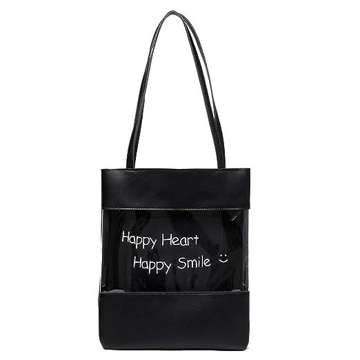 80ed2126d6a Women's Fashion Transparent Handbag Large Capacity Shoulder Bag Handbag,Outsta  2019 Deals! Fashion Bags