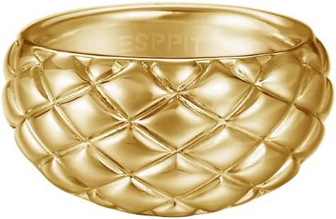 ESPRIT Women's Ring Stainless Steel Rhodium Plated Lattice Glam Gold