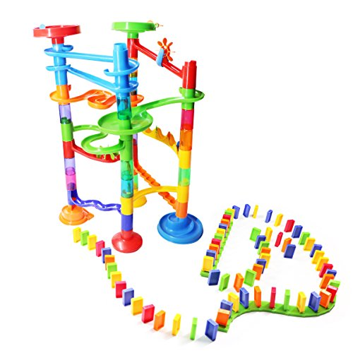 Marble Race Toys Tornado Domino Play Set for Kids Building and Stacking Construction Blocks Fun and Educational Marble Run Set Great Gift for Boys and Girls 3+ (85 Pcs)
