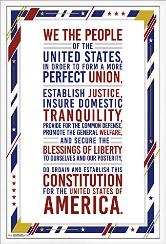 Trends International U.S. Constitution Preamble Wall Poster, 24.25