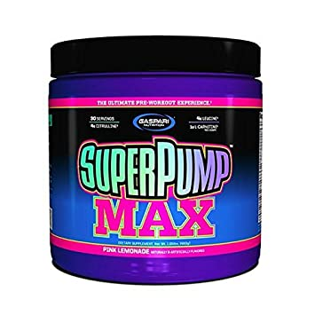Gaspari Nutrition Super Pump Max, Pre Workout 30 Servings, Non-Habit-Forming