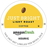 AmazonFresh 80 Ct. Coffee K-Cups, Just Bright Light Roast, Keurig Brewer Compatible