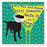 Design Design All Fun & Games Cocktail Napkins, Multicolor