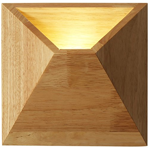 505 HZB Creative Solid Wood Wall Lamp Nordic Bedroom Bedside Aisle Aisle Lamp (Size : S) ()