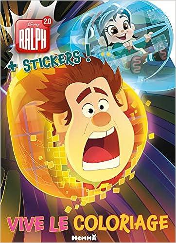 Coloriage Disney Ralph.Amazon In Buy Disney Ralph 2 0 Vive Le Coloriage Stickers Book