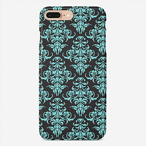 (ZHIQCH iPhone 7/8 Plus Case Damask Vintage Chandelier Wallpaper Floral Pattern Slim Fit Hard Plastic Cover Cases Full Protective Anti-Scratch Resistant Compatible with iPhone 7/8 Plus)