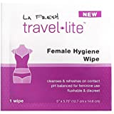 La Fresh Travel Feminine Hygiene Wipes - Portable and Discreet - 200 Packets (200)