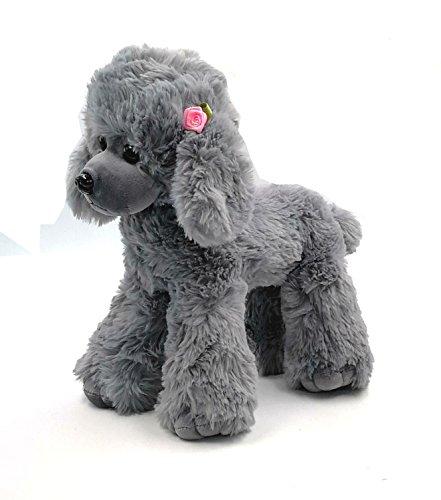 J-beauty Teddy Dog Plush Poodle Plush Animal Plush Toy (Gray) -