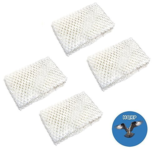 Price comparison product image HQRP 4-pack Wick Filter for Kenmore 14413,  14416,  1442,  14407,  14451,  144070,  144071,  144130,  144131,  144510,  144160,  144161,  144162 Humidifier + HQRP Coaster