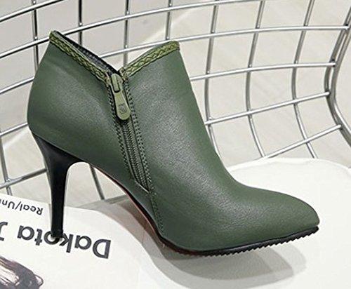 Bottines Courte Noeud Vert Style Femme Tige Aisun Mignon 7CFxwYqCp